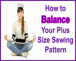 How to Balance Your Plus Size Sewing Pattern | katrinakaycreations.com