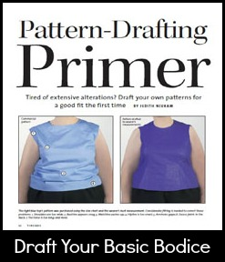 Draft Basic Plus Size Bodice Pattern | katrinakaycreations.com