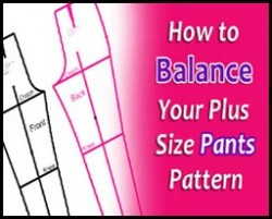 Plus Size Pants Pattern Balance A Key Step to Making Pants that Fit | katrinakaycreations.com