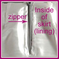 How to Sew Your Skirt Lining to Your Zipper by Sewing Machine