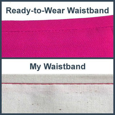 How to Sew a Waistband that Will Never Roll or Wrinkle katrinakaycreations