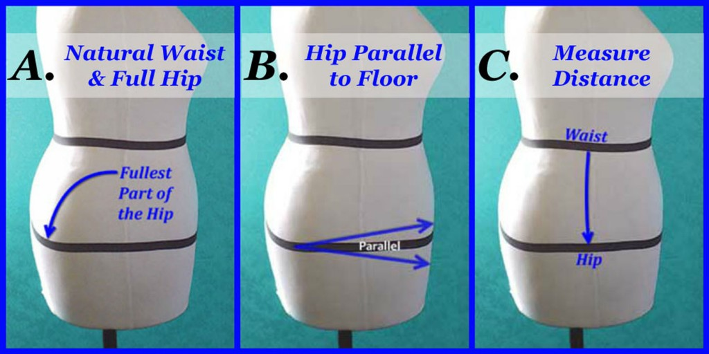 How to Adjust Your Waist to Hip Measurement (Hip Depth) katrinakaycreation.com