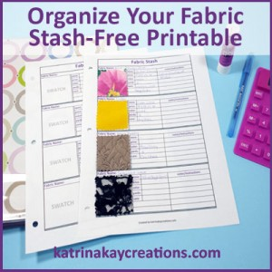 Organize Your Fabric Stash-Free Printable