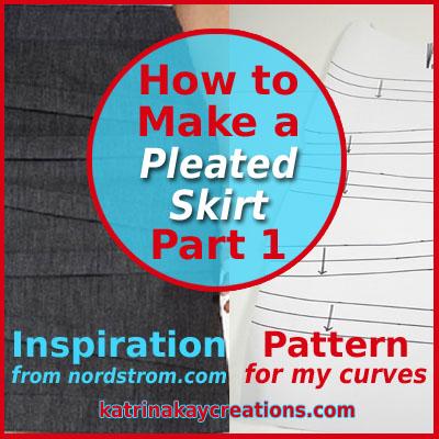 Pleated skirt blog katrinakaycreations