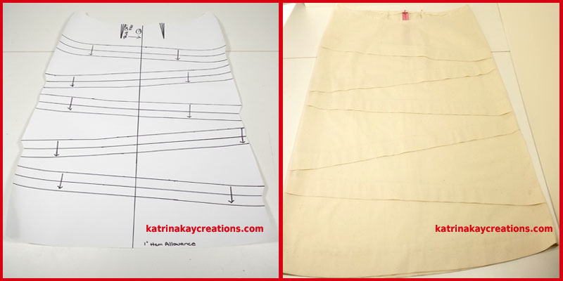 skirt pattern and muslin katrinakaycreations
