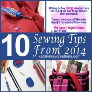 10 Sewing Tips From 2014