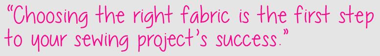 Choose right fabric quote katrinakaycreations