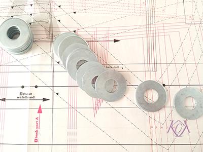 Patternmaking Tools weights | katrinakaycreations.com