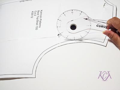 curve runner patternmaking tool katrinakaycreations