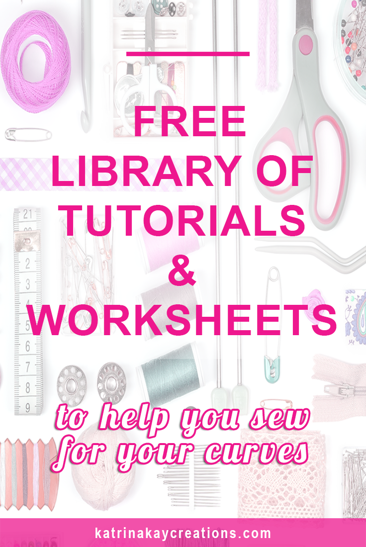 Free Tutorials Worksheets to Help You Sew For Your Curves – Sewing Worksheets