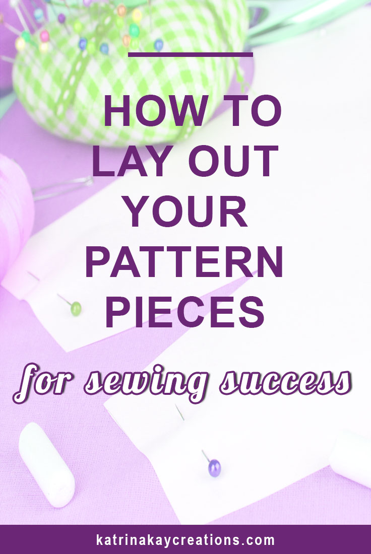 The way you place your pattern pieces on your fabric is very important. This is another step in making sure the clothes you sew don't look homemade. Placing your patterns on your fabric incorrectly can lead to your garment fitting poorly. Find out the 4 things you need to do during pattern layout that will eliminate some sewing and fitting headaches. Read the blog post now or pin it to save for later.