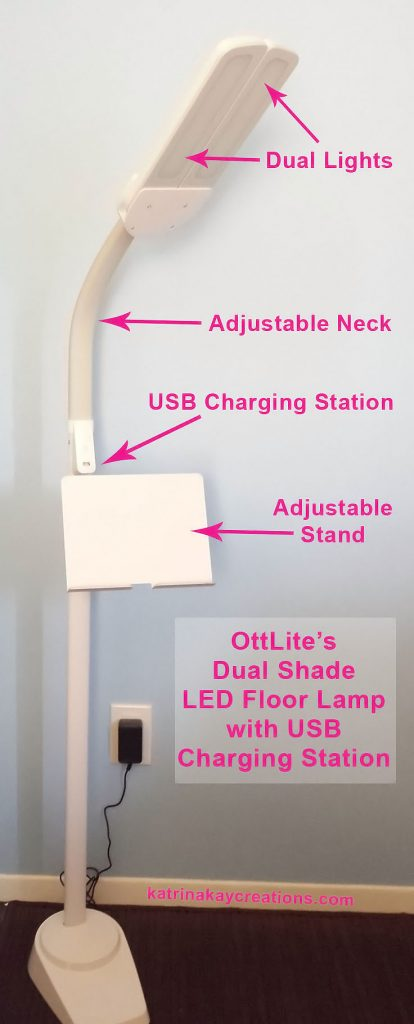 OttLite Dual Shade LED Floor Lamp Review & Giveaway - Katrina Kay ...