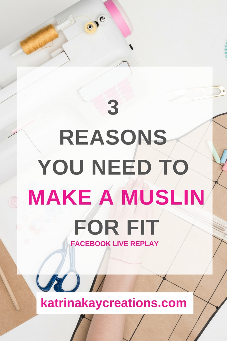 In this post, I give you 3 reasons you should make a muslin, or test garment to test the fit of your pattern. I also tell you about fabrics you can use in addition to muslin fabric.