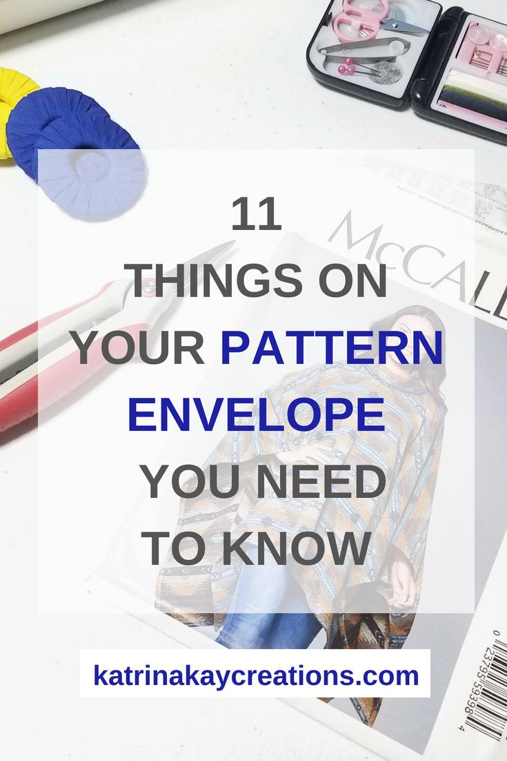 Sewing Pattern Envelope | Read Sewing Pattern Envelope | How To Read Sewing Pattern Envelope |