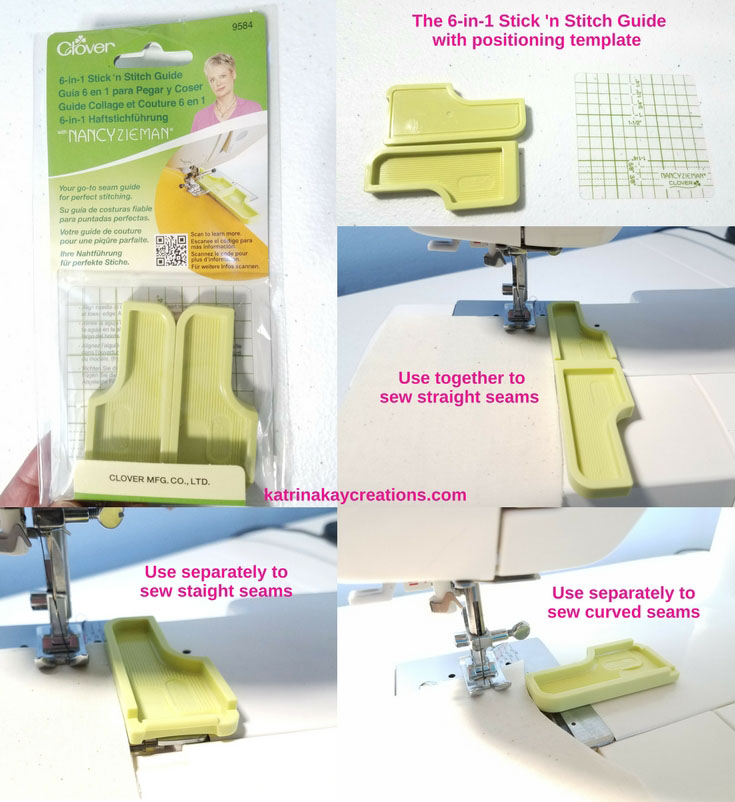 Seam Guides   How To Sew With A Seam Guide   Magnetic Seam Guide   Nancy Notions' 6 in 1 Stick 'N Stitch Seam Guide   This blog post will show you how to use seam guides to help you sew straight and curved seams.