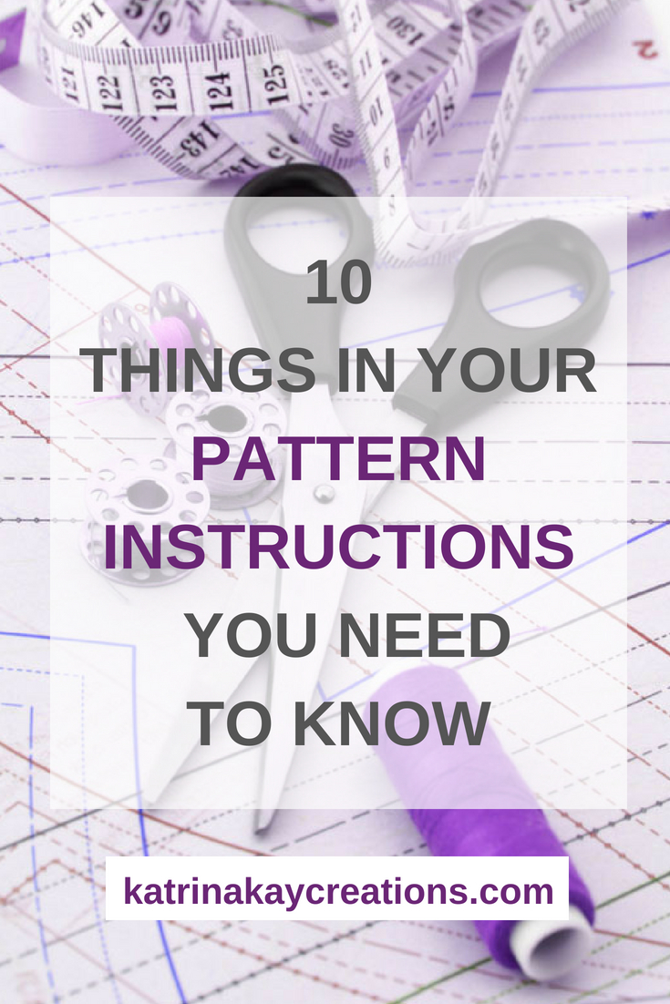 Sewing pattern instructions have a lot of information in them. While the amount of information can be overwhelming, the pattern instructions are there to help you through the process of sewing that particular pattern. On the blog, I go through each part of the pattern instructions (10 areas to be exact) and explain them.