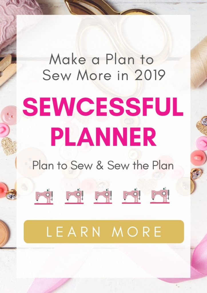 Use the Sewcessful Planner to create more time and and organization when you sew.